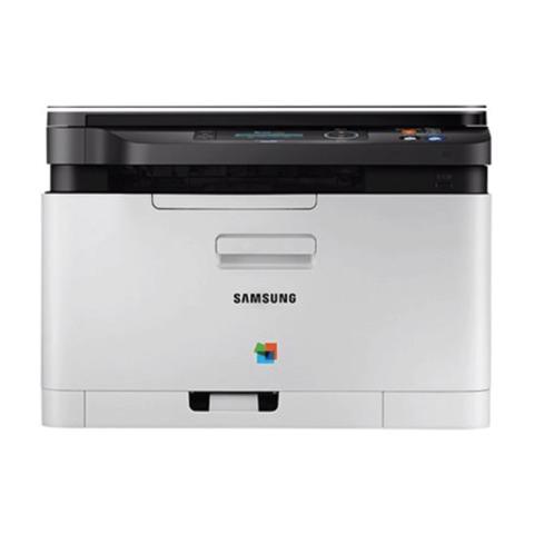 МФУ лазерное ЦВЕТНОЕ SAMSUNG SL-C480W (принтер, сканер, копир), А4, 18 стр./<wbr/>мин, 20000 стр./<wbr/>мес., Wi-Fi, с/<wbr/>к (с кабелем USB)