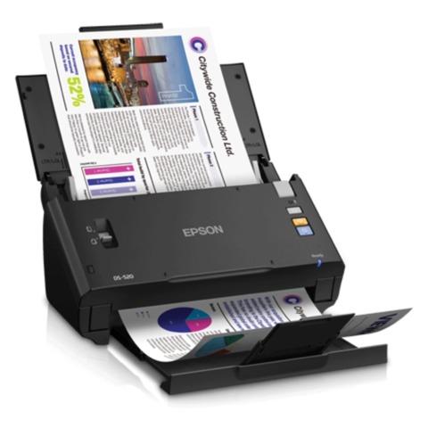 Сканер потоковый EPSON WorkForce DS-520, A4, 30 стр./<wbr/>мин, 600×600, 48 bit, АПД (кабель USB в комплекте)
