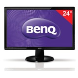 "Монитор BENQ GL2450HM 24"" (61 см), 1920×1080, 16:9, TN+film, 2 мс, 250 cd, HDMI, DVI, VGA, черный"