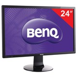 "Монитор BENQ GL2460HM 24"" (61 см), 1920×1080, 16:9, TN+film, 2 мс, 250 cd, HDMI, DVI, VGA, черный"