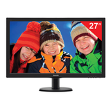 "Монитор LED 27"" (69 см) PHILIPS 273V5LSB, 1920×1080, TN+film, 16:9, DVI, D-Sub, 300 cd, 5 ms, черный"