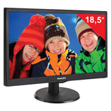 "Монитор LED 18,5"" (47 см) PHILIPS 193V5LSB2, 1366×768, TN+film, 16:9, D-Sub, 200 cd, 5 ms, черный"