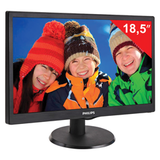 "������� LED 18,5"" (47 ��) PHILIPS 193V5LSB2, 1366×768, TN+film, 16:9, D-Sub, 200 cd, 5 ms, ������"