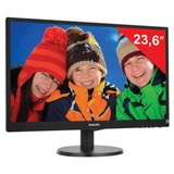 "Монитор LED 23,6"" (60 см) PHILIPS 243V5LSB, 1920×1080, TN+film, 16:9, DVI, D-Sub, 250 cd, 5 ms, черный"