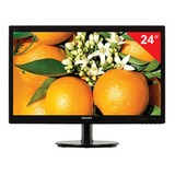 "Монитор LED 24"" (61 см) PHILIPS 246V5LHAB, 1920×1080, TN+film, 16:9, HDMI, D-Sub, 250 cd, 5 ms, черный"