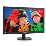 "Монитор LED 19,5"" (50 см) PHILIPS 203V5LSB2, 1600×900, TN+film,16:9, D-Sub, 200 cd, 5 ms, черный"