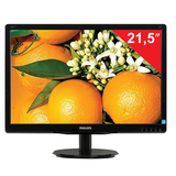 "Монитор LED 21,5"" (55 см) PHILIPS TN+film, 16:9, DVI, D-Sub, 250 cd, 1920×1080, 5 ms, черный"