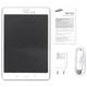 "Планшет SAMSUNG GALAXY Tab A SM-T355N, 8"", 4G (LTE), Wi-Fi, 2/<wbr/>5 Мп, 16 Гб, microSD, белый, пластик"