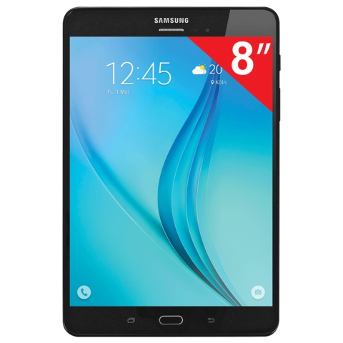 """Планшет SAMSUNG GALAXY Tab A SM-T355N, 8"""", 4G (LTE), Wi-Fi, 2/<wbr/>5 Мп, 16 Гб, microSD, черный, пластик"""