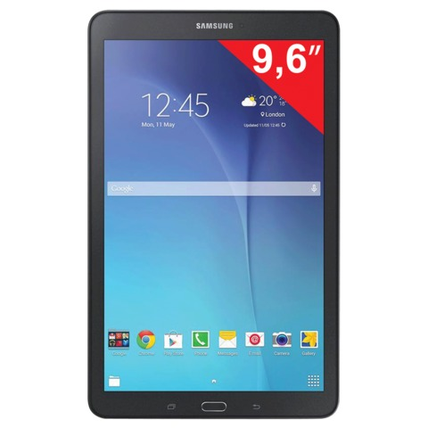 "Планшет SAMSUNG SM-T561N GALAXY Tab E, 9,6"", 1,3 ГГц, 4 ядра, 1,5 Гб, 8 Гб, 3G, Wi-Fi, 2/<wbr/>5Мп, mSD, Android 4, черный"