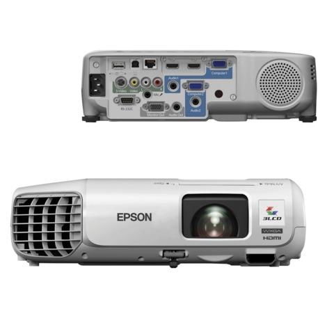 Проектор EPSON EB-965H, LCD, 1024x768, 4:3, 3500 лм, 10000:1, 2,9 кг