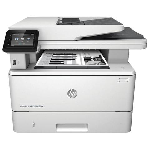 МФУ лазерное HP LaserJet Pro M426fdw (принтер, копир, сканер, факс), А4, 38 стр./мин, 80000 стр./мес., ДУПЛЕКС, АПД, Wi-Fi, с/к