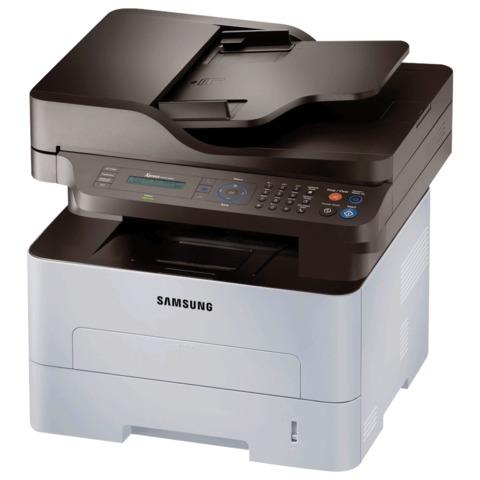МФУ лазерное SAMSUNG Xpress M2880FW (принтер, копир, сканер, факс), A4, 28 стр./<wbr/>мин., 12000 стр./<wbr/>мес., ДУПЛЕКС, АПД, Wi-Fi, с/<wbr/>к