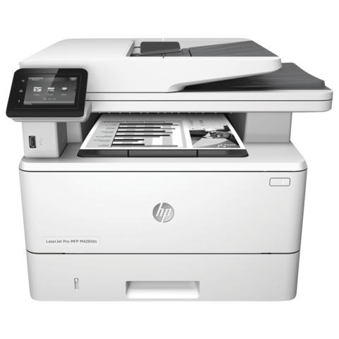 МФУ лазерное HP LaserJet Pro M426fdn (принтер, копир, сканер, факс), А4, 38 стр./<wbr/>мин, 80000 стр./<wbr/>мес., ДУПЛЕКС, АПД, с/<wbr/>к (б/<wbr/>к USB)