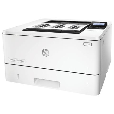 Принтер лазерный HP LaserJet Pro M402dn, А4, 38 стр./<wbr/>мин, 80000 стр./<wbr/>мес., ДУПЛЕКС, сетевая карта (без кабеля USB)
