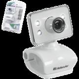 Веб-камера DEFENDER G-lens 321-I, 0.3 Мп, микрофон, USB 2.0, подсветка, регулируемое крепление, белая