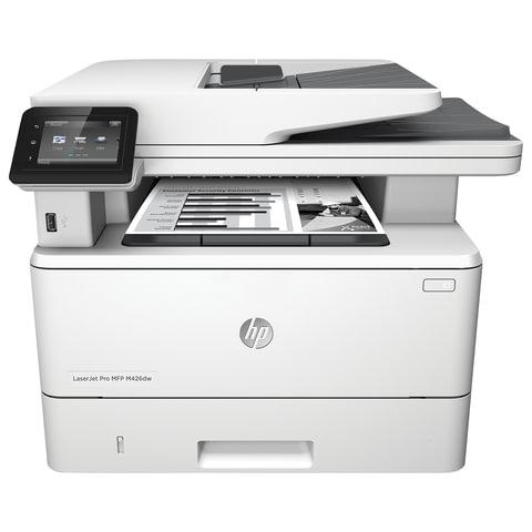 МФУ лазерное HP LaserJet Pro M426dw (принтер, копир, сканер), А4, 38 стр./<wbr/>мин., 80000 стр./<wbr/>мес., ДУПЛЕКС, АПД, Wi-Fi, с/<wbr/>к