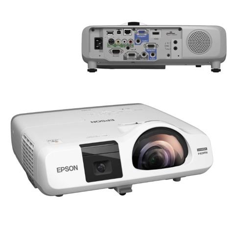 Проектор EPSON EB-536Wi, LCD, 1280×800, 16:10, 3400 лм, 16000:1, короткофокусный, 3,9 кг
