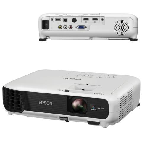 Проектор EPSON EB-W04, LCD, 1280×800, 16:10, 3000 лм, 15000:1, 2,4 кг