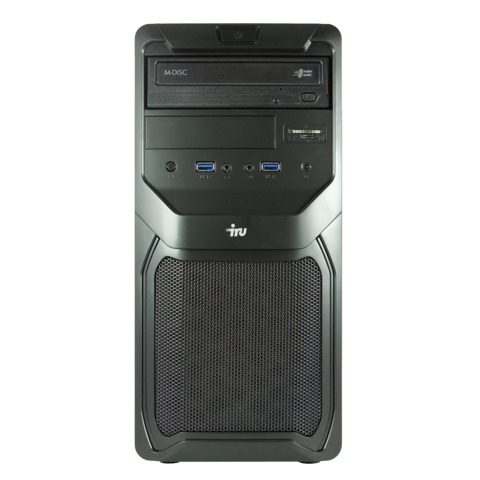 Системный блок IRU Office 310 MT INTEL Celeron G1840, 2,8 ГГц, 2 Гб, 500 Гб, DVD-RW, DOS, черный