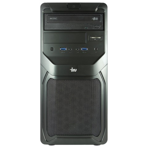 Системный блок IRU Office 310 MT INTEL Core-i3 4170, 3,7 ГГц, 4 Гб, 500 Гб, DVD-RW, Windows 7 Pro, черный