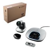 Веб-камера LOGITECH ConferenceCam CC3000e, 2 Мпикс., микрофон, USB 3.0/<wbr/>2.0, ПДУ, черно — серебристая
