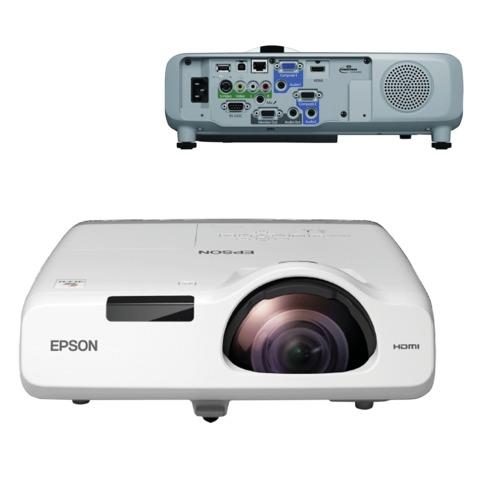Проектор EPSON EB-520, LCD, 1024x768, 4:3, 2700 лм, 16000:1, короткофокусный, 3,7 кг