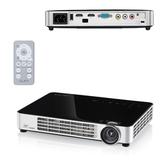 Проектор мультимедийный VIVITEK Qumi Q6 Black, DLP, 1280×800, 800 Лм, 30000:1, 3D, HDMI, ультрапортативный