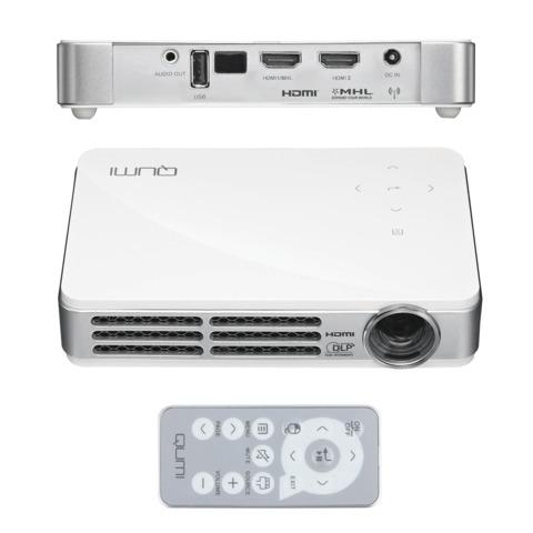 Проектор мультимедийный VIVITEK Qumi Q6 White, DLP, 1280×800, 800 Лм, 30000:1, 3D, HDMI, ультрапортативный