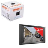 """Видеорегистратор автомобильный KAPKAM T3, 3,5"""" (экран 8,9 см), сенсорный, Full HD, microSDHC, черный"""