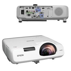 Проектор EPSON EB-535W, LCD, 1280×800, 16:10, 3400 лм, 16000:1, короткофокусный, 3,7 кг