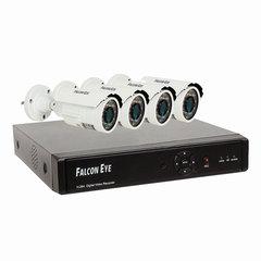 Комплект видеонаблюдения FALCON EYE FE-0108AHD-KIT PRO 8.4, 8-канальный, гибридный регистратор, 4 уличные камеры
