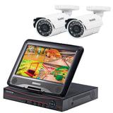 """Комплект видеонаблюдения FALCON EYE FE-1104COMBO KIT «Light», 4-х канальный, гибридный регистратор, дисплей 10"""", 2 уличные камеры"""