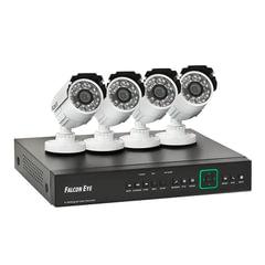 Комплект видеонаблюдения FALCON EYE FE-104AHD KIT «Дача», 4-х канальный, гибридный регистратор, 4 уличные камеры