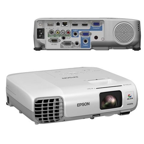 Проектор EPSON EB-945H, LCD, 1024x768, 4:3, 3000 лм, 10000:1, 2,9 кг
