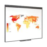 """Интерактивная доска 77"""" SMART Board SB480, оптическая, 157×117 см, 4:3, USB, 2 пользователя (NOTEBOOK 2011 года)"""