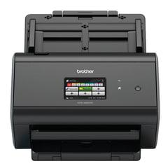 Сканер потоковый BROTHER ADS-2800W, А4, 1200×1200, 60 стр./<wbr/>мин., 3000 стр./<wbr/>день, АПД, сетевая карта, Wi-Fi (кабель USB в компл.)