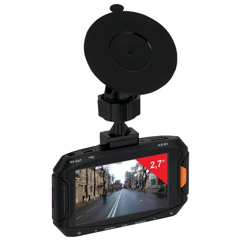 Видеорегистратор SUPRA SCR-37HD, экран 2,7, AV, miniUSB, HDMI, угол обзора 120°, FULL HD
