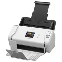 Сканер потоковый BROTHER ADS-2700W, А4, 600×600, 35 стр./<wbr/>мин., АПД, сетевая карта, Wi-Fi (с кабелем USB)
