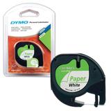 Картридж для принтеров этикеток DYMO Letra Tag, 12 мм х 4 м, лента бумажная, белая