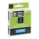 Картридж для принтеров этикеток DYMO D1, 9 мм х 7 м, лента пластиковая, чёрный шрифт, прозрачный фон