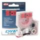 Картридж для принтеров этикеток DYMO D1, 12 мм х 7 м, лента пластиковая, чёрный шрифт, красный фон