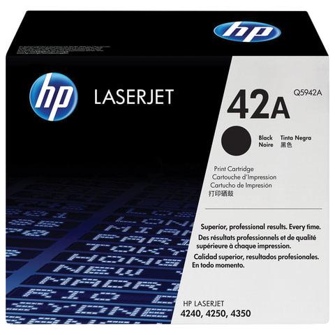 Картридж лазерный HP (Q5942А) LaserJet 4250/4350 и другие, №42А, оригинальный, ресурс 10000 стр.