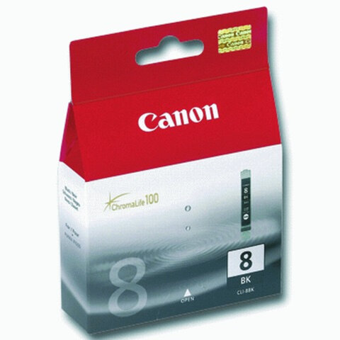 Картридж струйный CANON (CLI-8Bk) Pixma iP4200/4300/4500/5200/5300, черный, оригинальный
