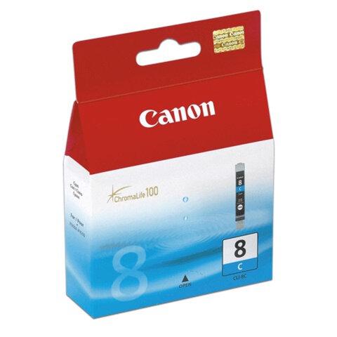 Картридж струйный CANON (CLI-8С) Pixma iP4200/<wbr/>4300/<wbr/>4500/<wbr/>5200/<wbr/>5300, голубой, оригинальный
