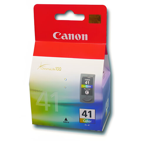 Картридж струйный CANON (CL-41) Pixma iP1200/1600/1700/2200/MP150/160/170/180/210, цветной