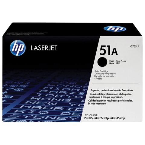 Картридж лазерный HP (Q7551A) LaserJet M3035/<wbr/>3027/<wbr/>P3005 и другие, №51А, оригинальный, 6500 стр.