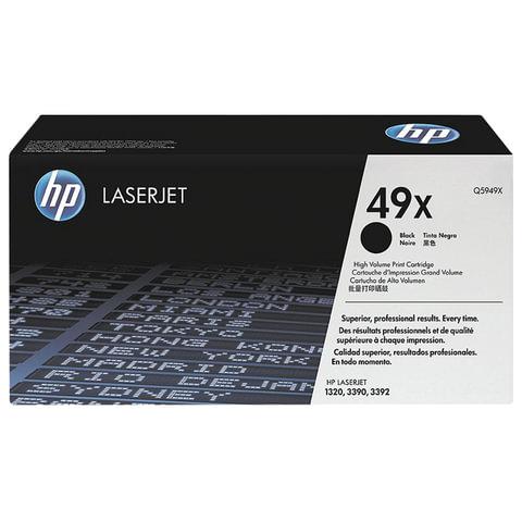 Картридж лазерный HP (Q5949X) LaserJet 1320/<wbr/>3390/<wbr/>3392 и другие, №49X, оригинальный, ресурс 6000 стр.