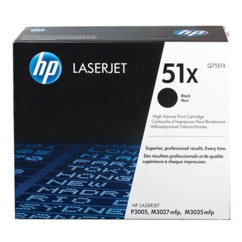 Картридж лазерный HP (Q7551X) LaserJet М3035/<wbr/>3027/<wbr/>P3005 и другие, №51X, оригинальный, 13000 стр.