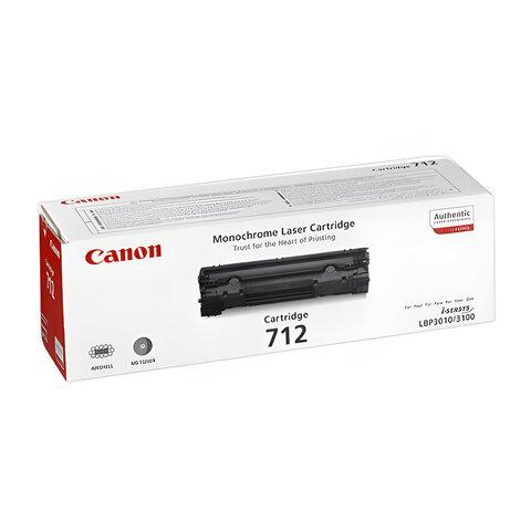 Картридж лазерный CANON (712) LBP-3010/<wbr/>3100 и другие, оригинальный, ресурс 1500 стр.